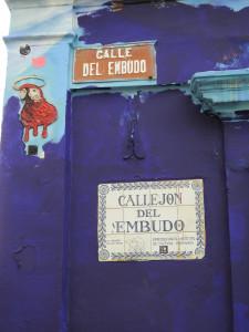 Bogota 5 nov 2018 Bogota 40 mont Serrate plaque rue