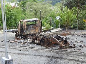 camion incendié