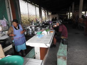 café au marché de Santa Letitia avant notre départ