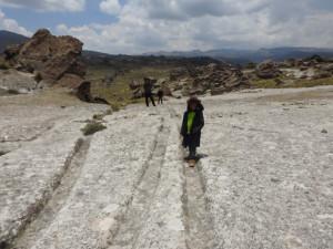 le long du chemin Inca